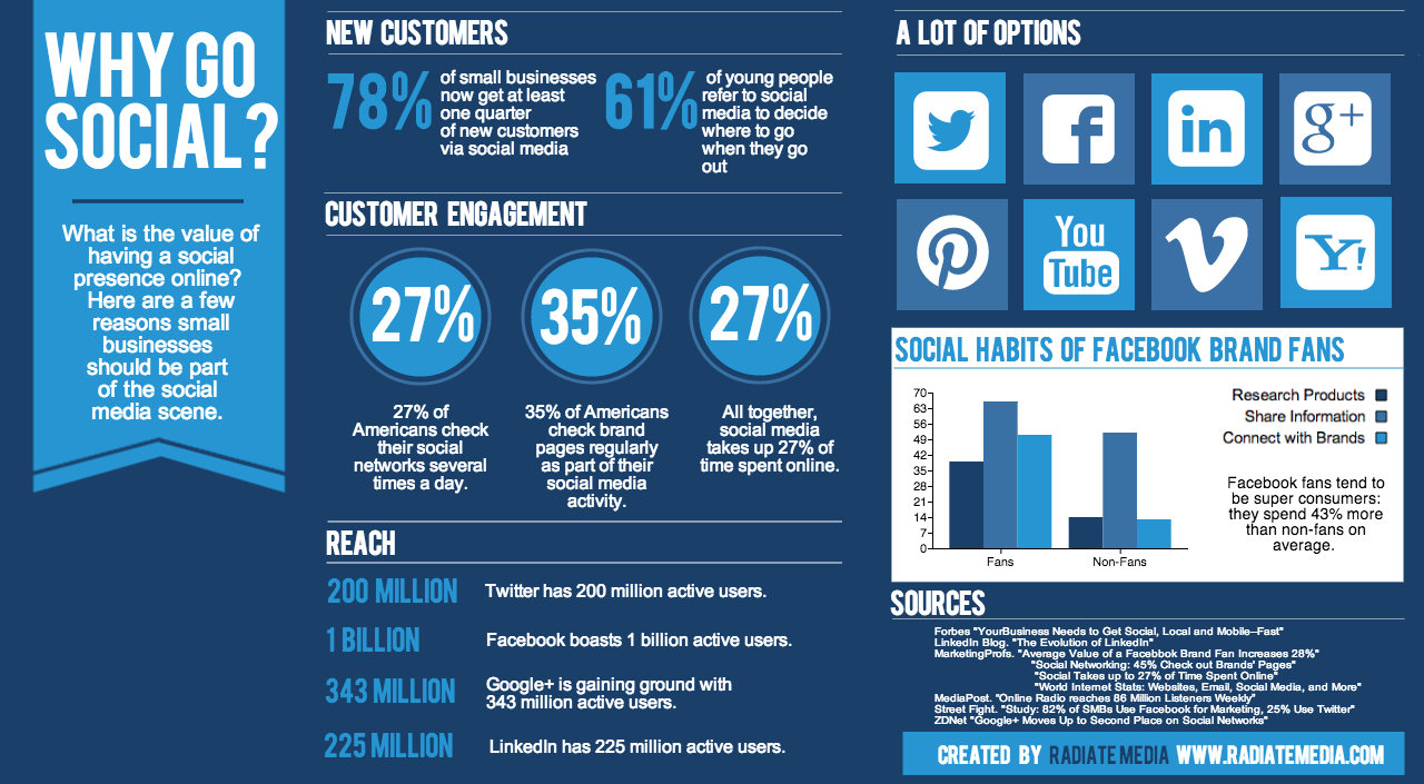 social media marketing info graphic